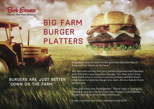 Bob Evans Big Farm Burgers