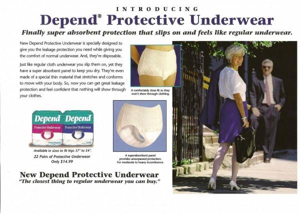 Depend Protective Underwear Concept Board