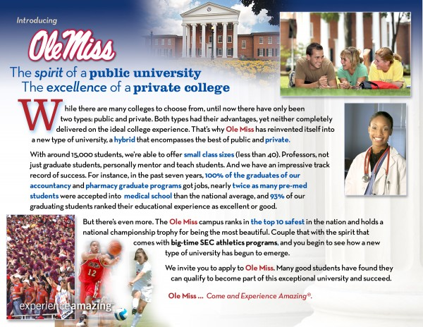 Success Stories Ole Miss ExperienceAmazing Positioning Board